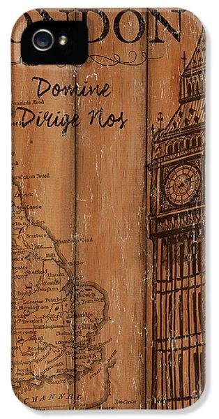 Vintage Travel London IPhone 5 Case by Debbie DeWitt