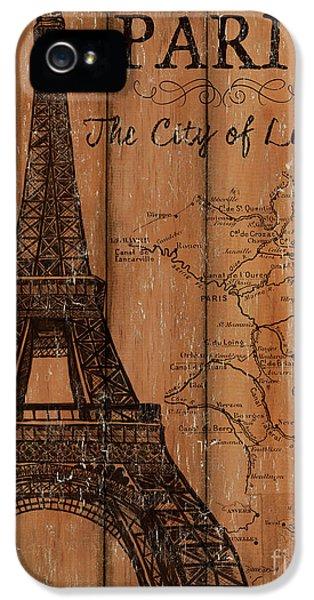 Eiffel Tower iPhone 5 Case - Vintage Travel Paris by Debbie DeWitt