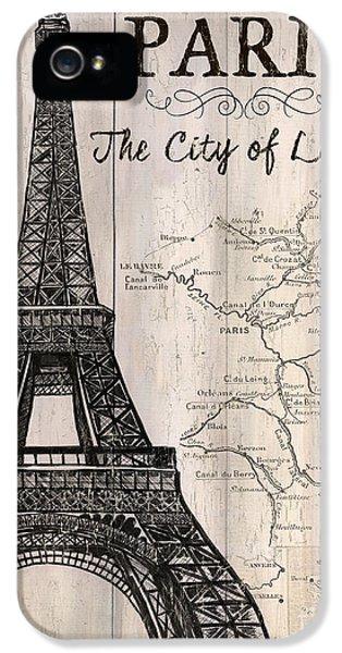 Paris iPhone 5 Case - Vintage Travel Poster Paris by Debbie DeWitt