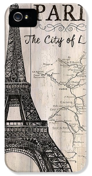Vintage Travel Poster Paris IPhone 5 Case by Debbie DeWitt
