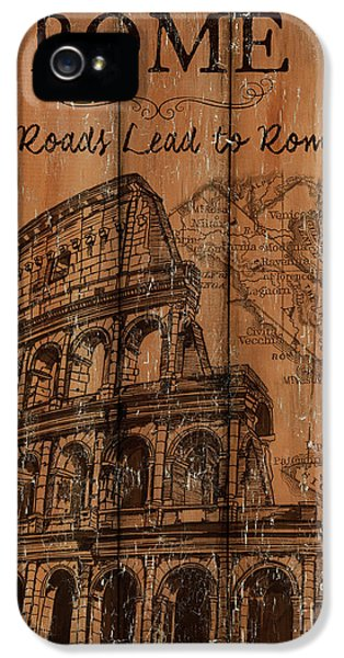 Vintage Travel Rome IPhone 5 Case by Debbie DeWitt