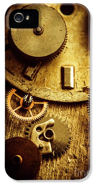Vintage Watch Parts IPhone 5 Case by Jorgo Photography - Wall Art Gallery