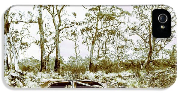 Damage iPhone 5 Case - Vintage Winter Car Wreck by Jorgo Photography - Wall Art Gallery