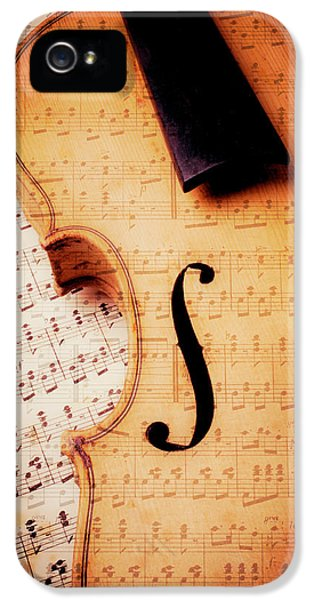 Violin And Musical Notes IPhone 5 Case