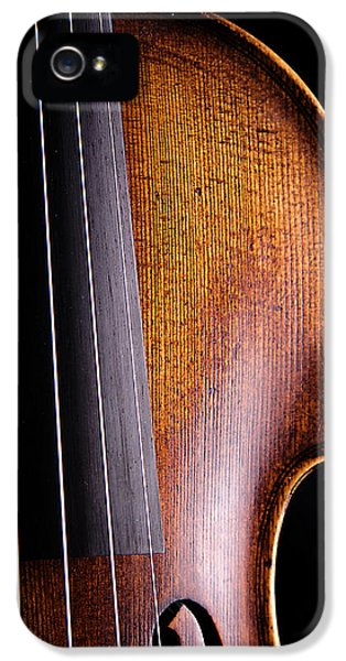 Violin iPhone 5 Case - Violin Isolated On Black by M K  Miller