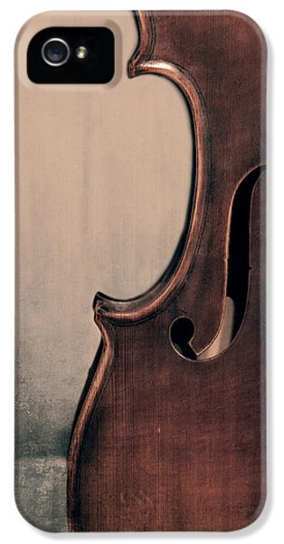 Violin iPhone 5 Case - Violin Portrait  by Emily Kay