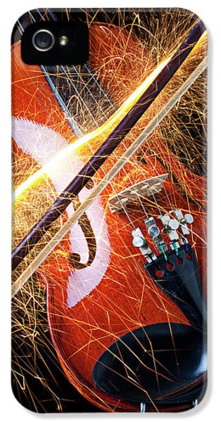 Violin With Sparks Flying From The Bow IPhone 5 Case