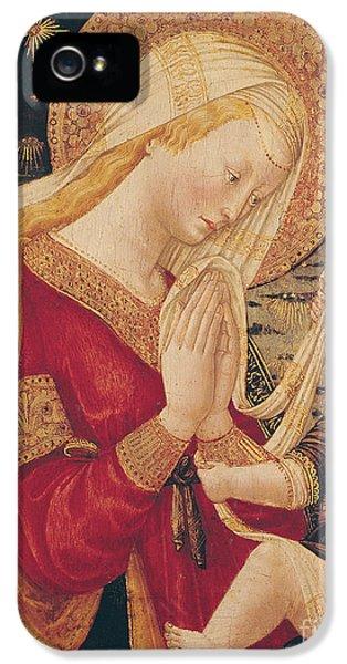 Virgin And Child  IPhone 5 Case by Neri di Bicci