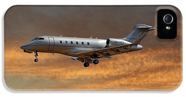 Jet iPhone 5 Case - Vista Jet Bombardier Challenger 300 3 by Smart Aviation