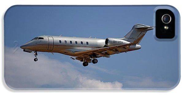 Jet iPhone 5 Case - Vista Jet Bombardier Challenger 300 4 by Smart Aviation