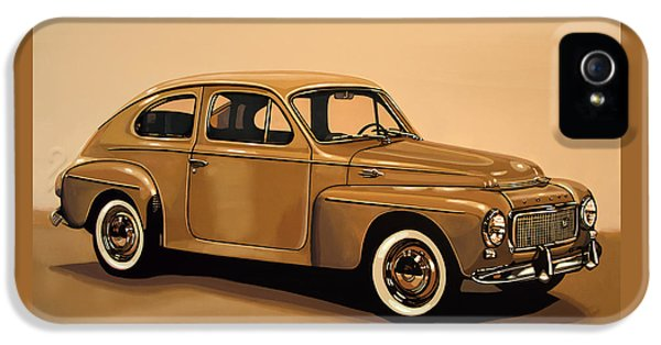 Volvo Pv 544 1958 Painting IPhone 5 Case