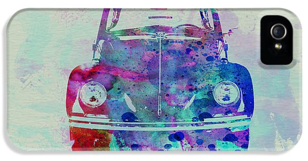 Beetle iPhone 5 Case - Vw Beetle Watercolor 2 by Naxart Studio