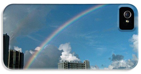 IPhone 5 Case featuring the photograph Waikiki Rainbow by Anthony Baatz