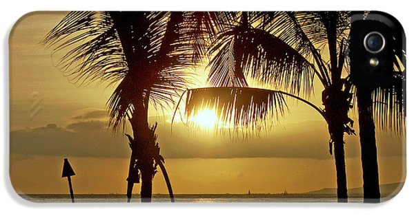 IPhone 5 Case featuring the photograph Waikiki Sunset by Anthony Baatz