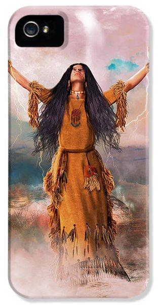 Wakan Tanka The Great Spirit IPhone 5 Case by Shanina Conway