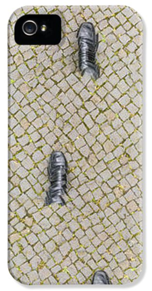 Funny iPhone 5 Case - Walking Shoes 01 by Matthias Hauser