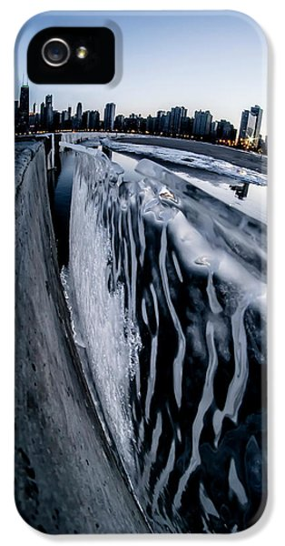 Wall Of Ice And Chicago Skyline At Dusk  IPhone 5 Case