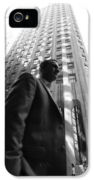 Wall Street Man II IPhone 5 Case by Dave Beckerman