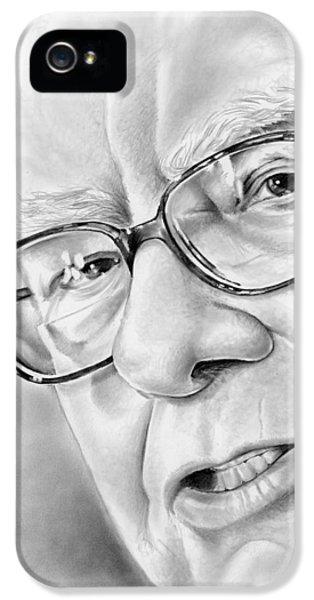Warren Buffett IPhone 5 Case by Greg Joens