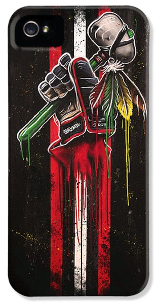 Warrior Glove On Black IPhone 5 Case