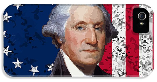 Washington And The American Flag IPhone 5 Case