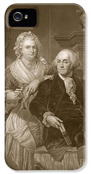 Washington At Home IPhone 5 Case by Alonzo Chappel
