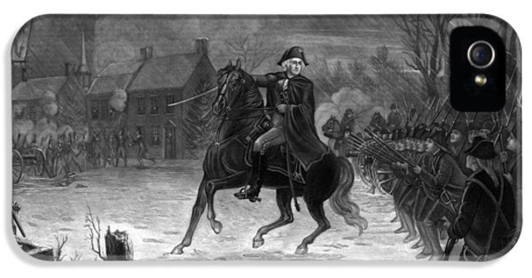 Washington At The Battle Of Trenton IPhone 5 Case by War Is Hell Store