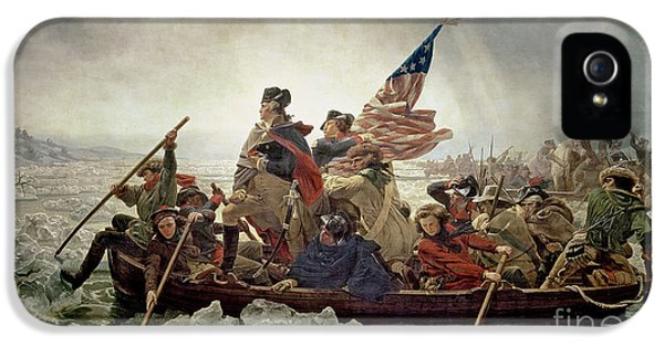 Washington Crossing The Delaware River IPhone 5 Case by Emanuel Gottlieb Leutze