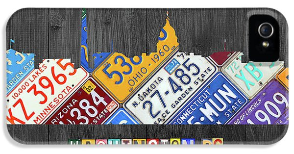 Washington Dc Skyline Recycled Vintage License Plate Art IPhone 5 / 5s Case by Design Turnpike