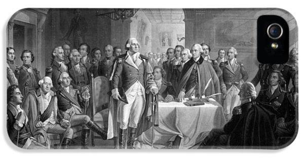Washington Meeting His Generals IPhone 5 Case
