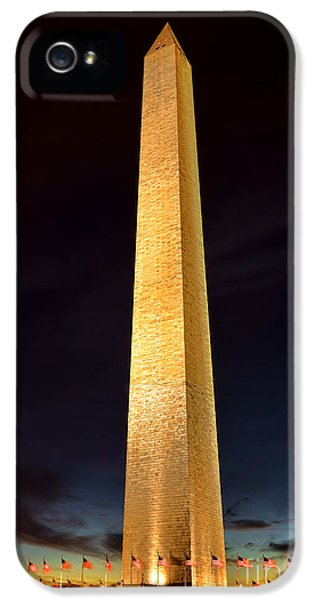 Washington Monument At Night  IPhone 5 / 5s Case by Olivier Le Queinec