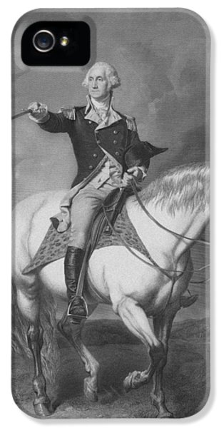 Washington Receiving A Salute At Trenton IPhone 5 Case by War Is Hell Store
