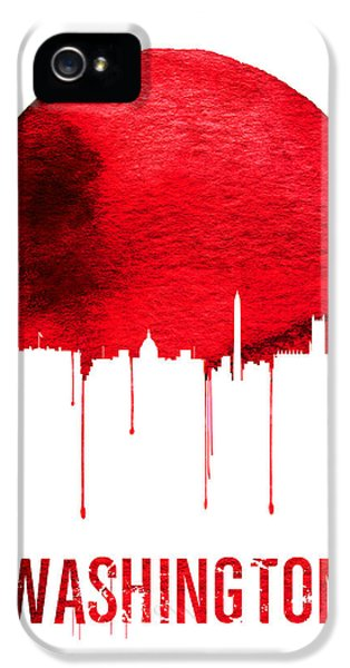 Washington D.c iPhone 5 Case - Washington Skyline Red by Naxart Studio
