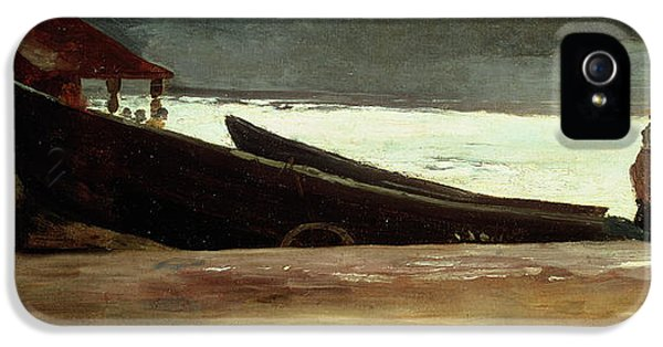 Watching A Storm On The English Coast IPhone 5 Case by Winslow Homer