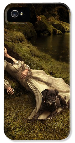 Watching Over Her Sleep IPhone 5 / 5s Case by Britta Glodde