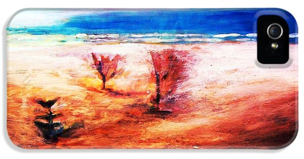 IPhone 5 Case featuring the painting Water And Earth by Winsome Gunning