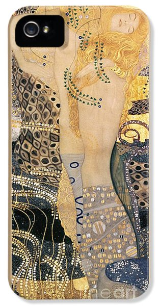 Water Serpents I IPhone 5 Case by Gustav klimt