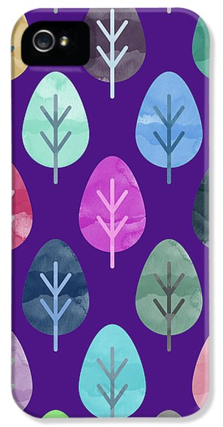 Watercolor Forest Pattern II IPhone 5 Case by Amir Faysal