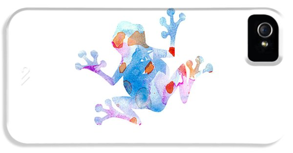 Watercolor Frog IPhone 5 Case by Nursery Art