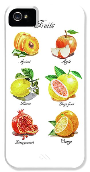 Grapefruit iPhone 5 Case - Watercolor Fruit Illustration Collection I by Irina Sztukowski