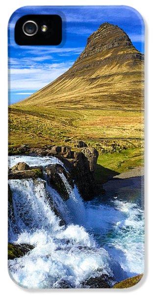 Amazing iPhone 5 Case - Waterfall In Iceland Kirkjufellfoss by Matthias Hauser