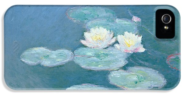 Impressionism iPhone 5 Case - Waterlilies Evening by Claude Monet