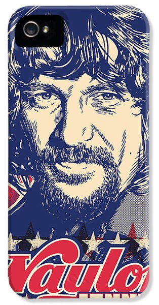 Johnny Cash iPhone 5 Case - Waylon Jennings Pop Art by Jim Zahniser