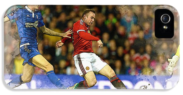 Wayne Rooney Of Manchester United Scores IPhone 5 Case