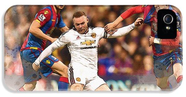 Wayne Rooney Shoots At Goal IPhone 5 Case