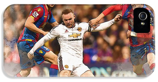 Wayne Rooney Shoots At Goal IPhone 5 / 5s Case by Don Kuing