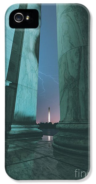 Washington Monument iPhone 5 Case - We Hold These Truths by Rami Ruhman