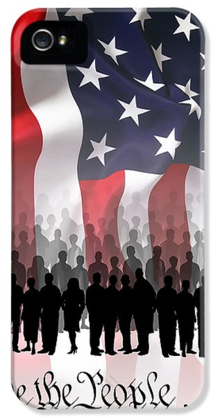 We The People . . . IPhone 5 Case by Daniel Hagerman