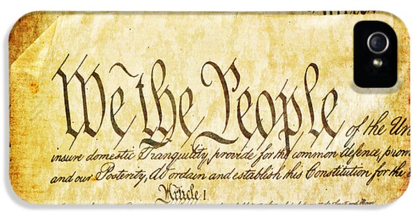 We The People IPhone 5 Case by Angelina Vick