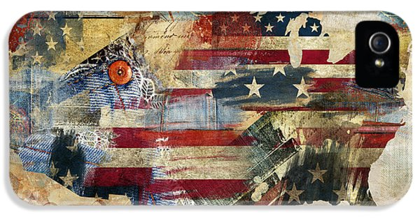 We The People Map America IPhone 5 Case by Mindy Sommers